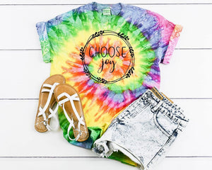 Choose Joy Tie Dye Graphic Tee