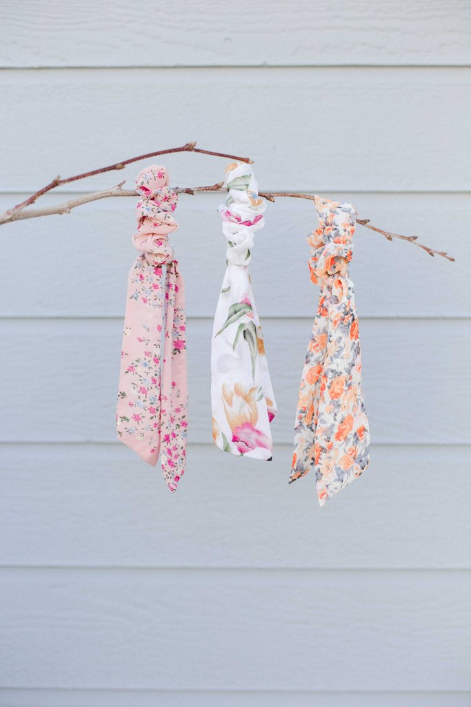Spring Floral Pony Scarf