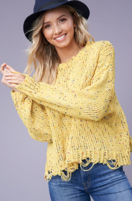 Mustard Crew Neck Sweater