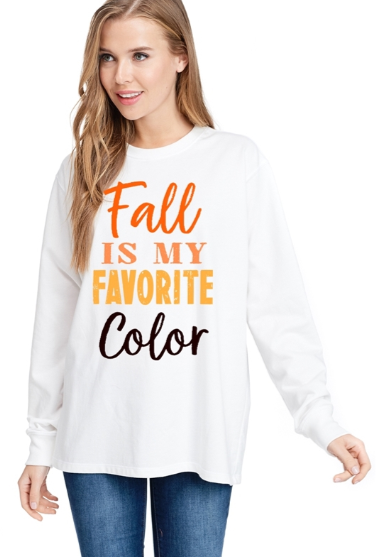 """Fall Is My Favorite Color"" Graphic Top"