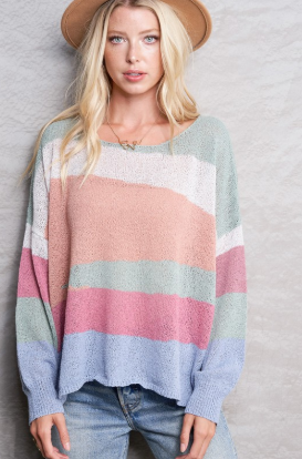 Asymmetrical Stripe Sweater
