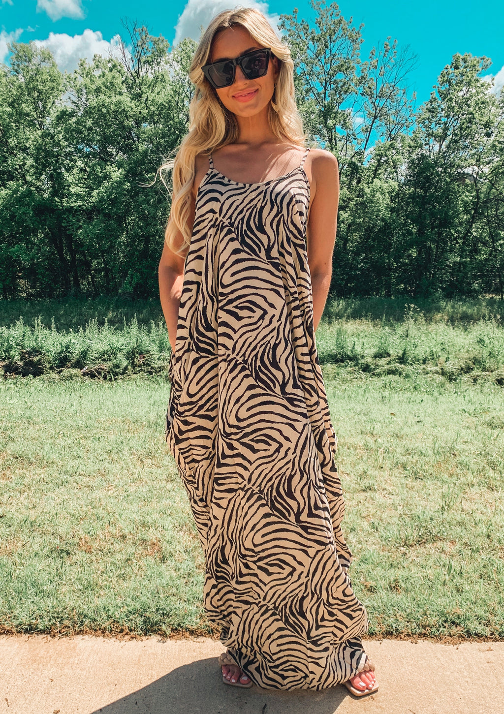 Draped Cami Maxi Dress