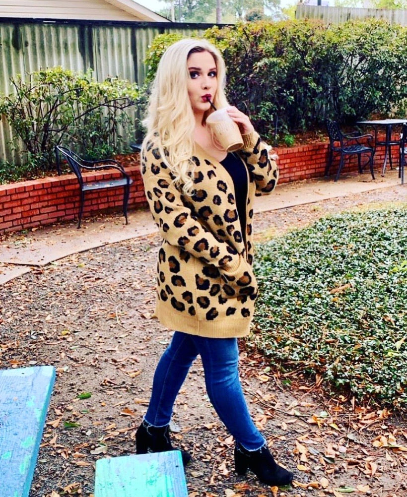 BEST SELLER!!! Leopard Soft Knit Cardigan