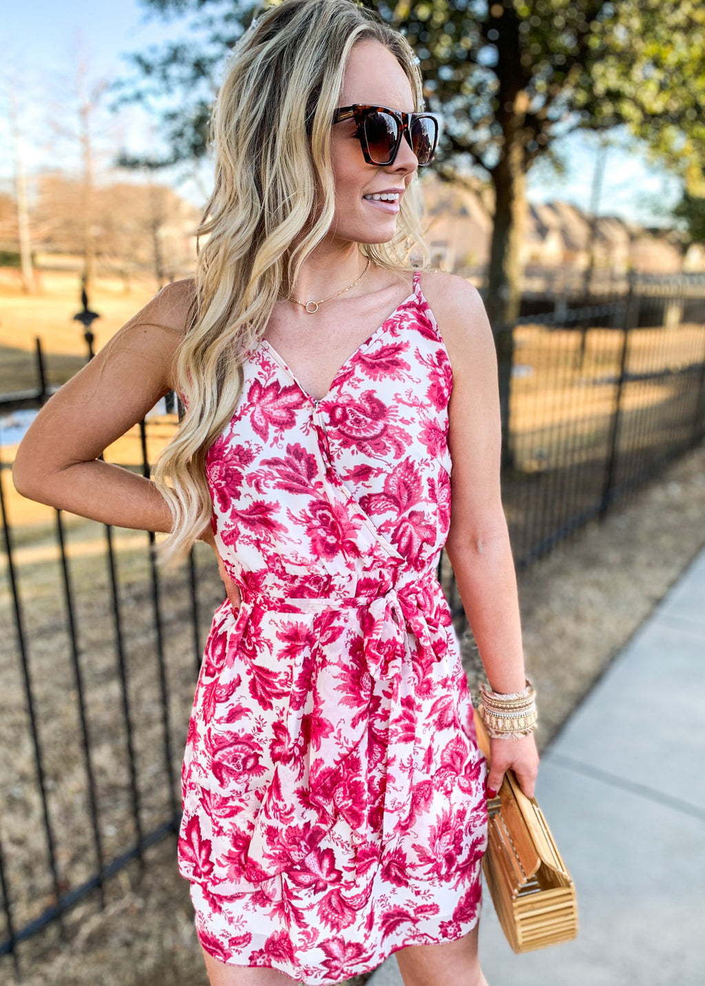 Pink Floral Ruffle Dress (pre order 5/15)
