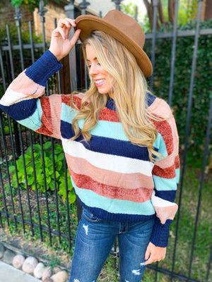 Best Seller!!! Striped Crew Neck Sweater