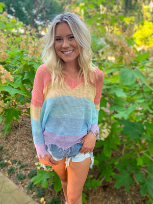 Summer Fun Distressed Sweater