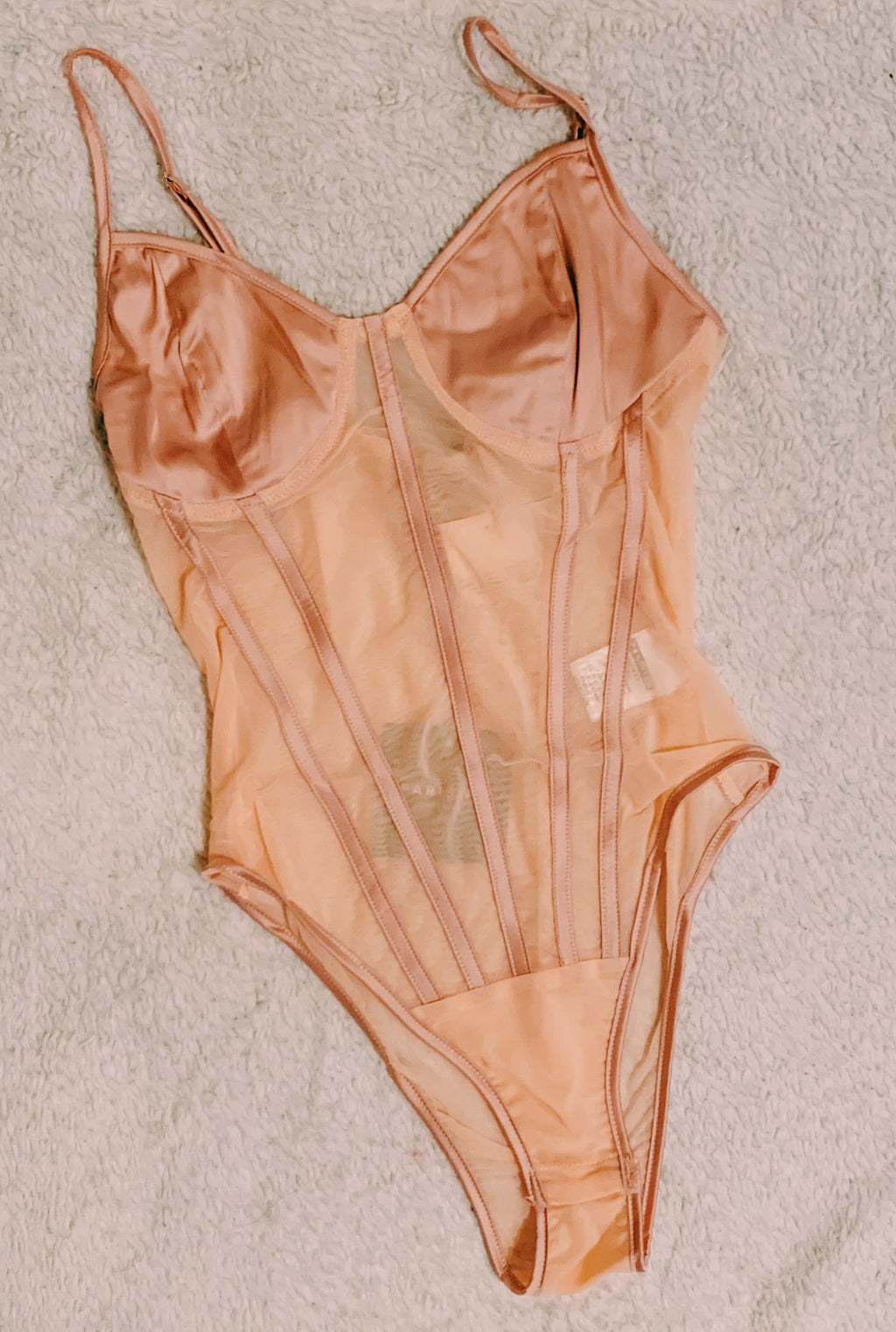 Pink Satin Bodysuit