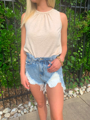 Best seller!!! PAPERBAG DISTRESSED DENIM SHORTS (pre-order 6/8)
