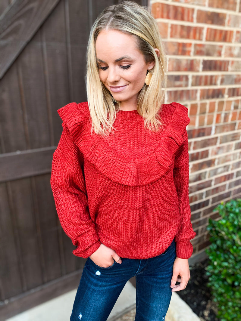 Sienna Ruffle Pullover Sweater