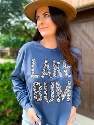 LEOPARD LAKE BUM CROPPED GRAPHIC TOP