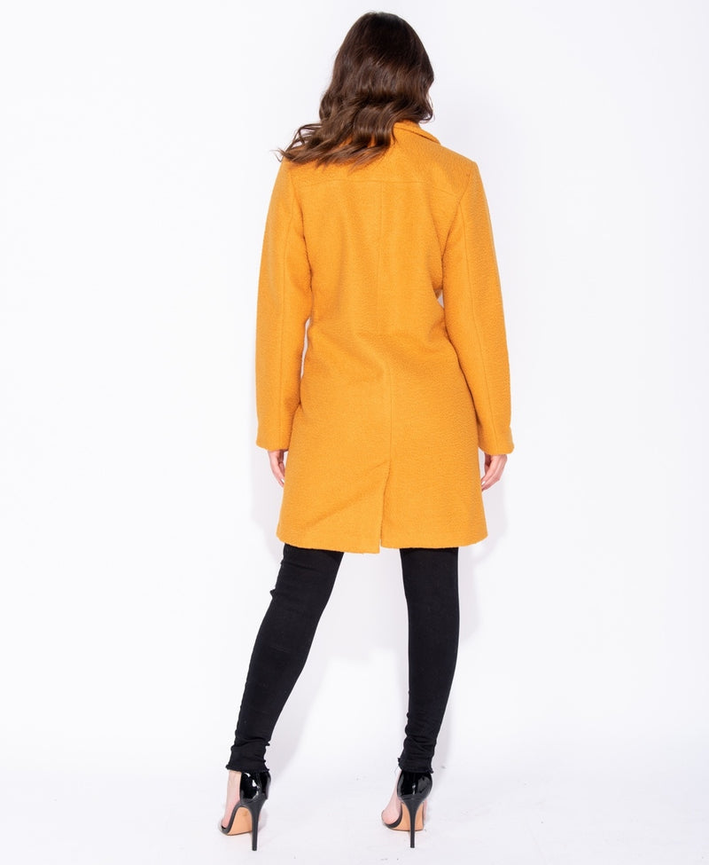 Longline Double Breasted Car Coat