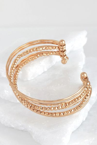 Gold Layered Metal Cuff Bracelet