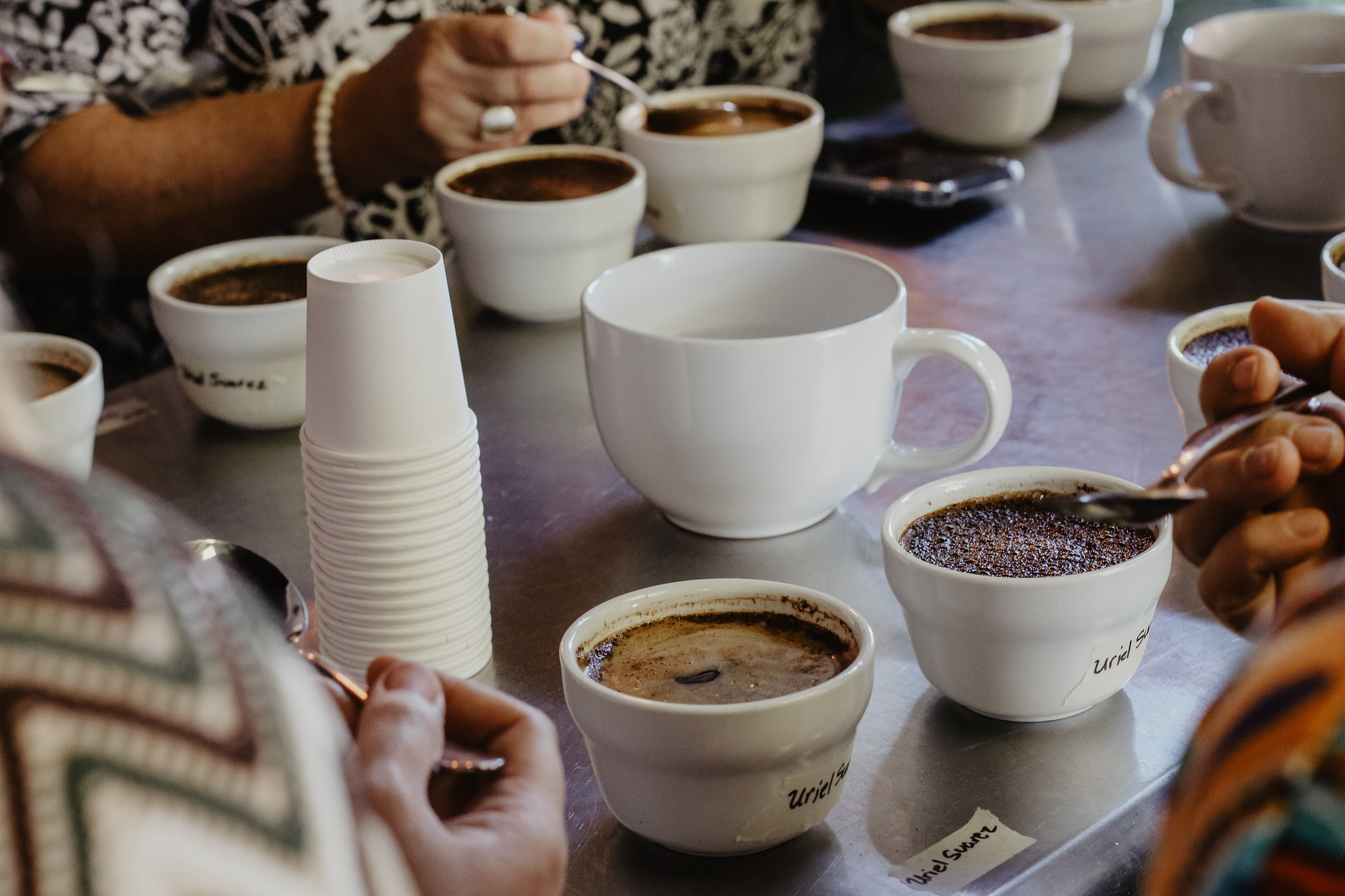 Debriefing coffee cupping
