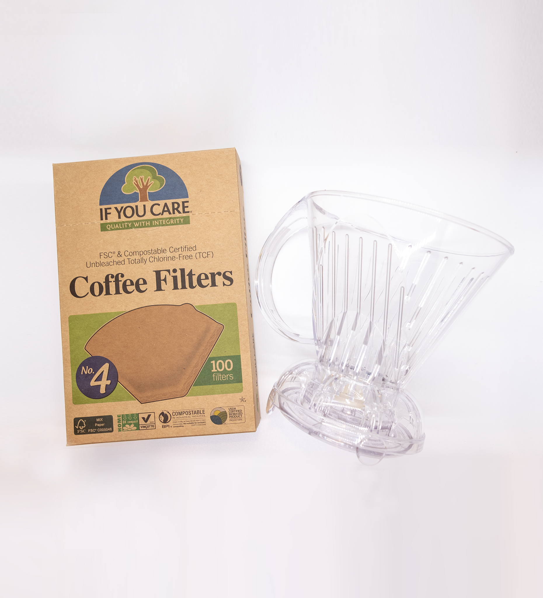 cold brew diy do it yourself coffee kit clever dripper if you care quality filter fsc compostable coffee filter no.4 filter cold brew coffee home cafe downtown blend organic fair trade certified
