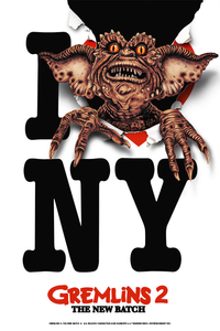"24x36 ""I LOVE NY GREMLINS 2"" SCREENPRINT (Signed Artist's Print)"