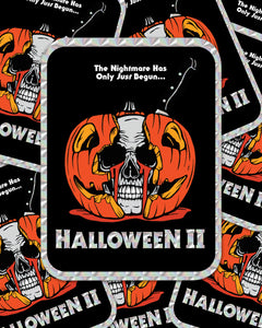 "HALLOWEEN II ""CRYING SKULL"" PRISM STICKER"