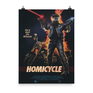 """HOMICYCLE"" 18x24 MATTE FINISH POSTER"