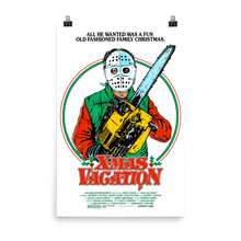 "Load image into Gallery viewer, ""X-MAS VACATION""  WHITE POSTER PRINT (12X18 or 24x36)"