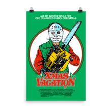 "Load image into Gallery viewer, ""X-MAS VACATION"" GREEN POSTER PRINT (12X18 or 24x36)"