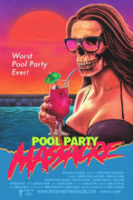 "Load image into Gallery viewer, 24x36 ""POOL PARTY MASSACRE"" Screenprint"