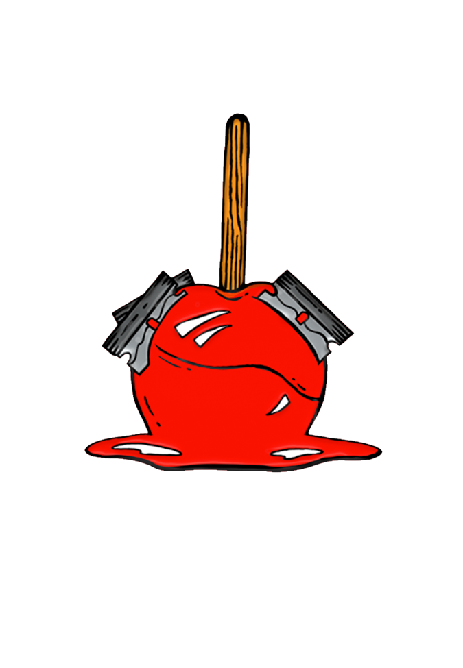 Candy Apple Razor Enamel Pin