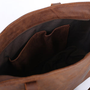 Genuine Leather Laptop Sleeve Shopper
