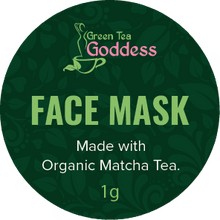 Load image into Gallery viewer, Matcha Face Mask (1 mask)