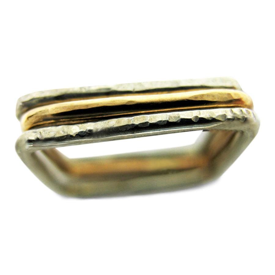 K Kay Designs stackable rings sustainable handcrafted minimalist jewelry for layering and statement jewelry in sterling silver 14k yellow gold filled 14 rose gold filled and fine jewelry and engagement rings MN Jewelry Designer Ethically sources supplies