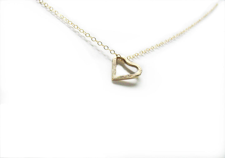 "14K Gold-Filled ""Imperfect Heart"" Necklace - K Kay Designs"