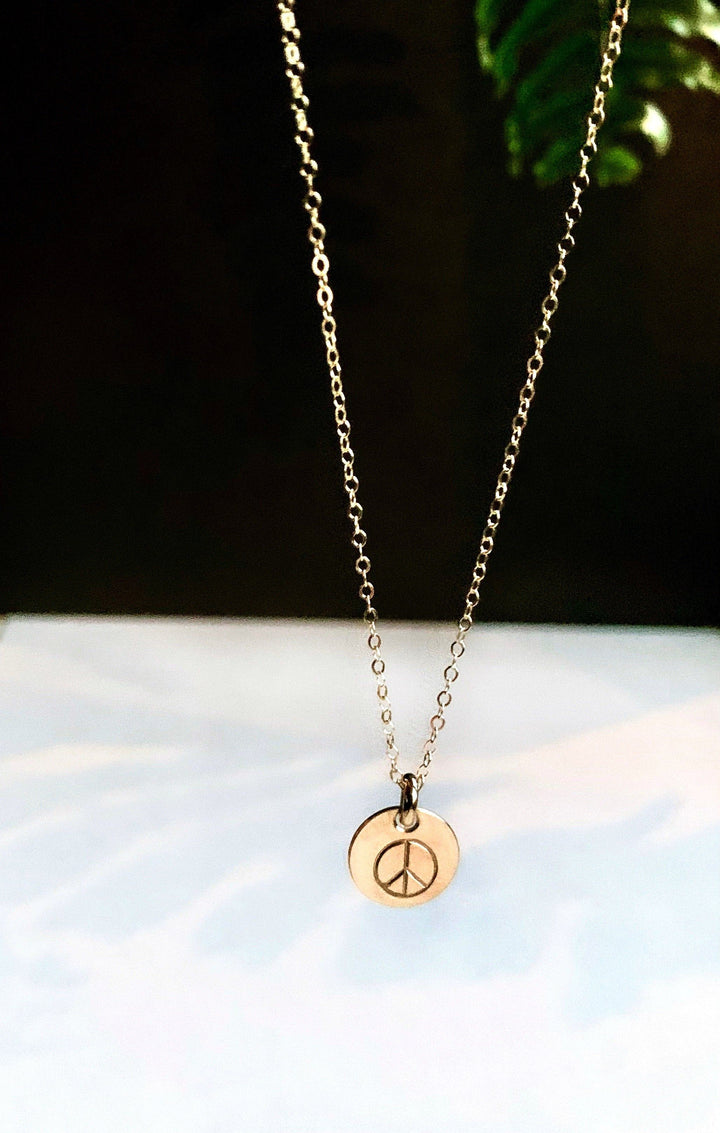 Give Peace a Chance Stack Necklace Necklace K Kay Designs