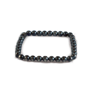 Oxidized Sterling Silver Stackable Beaded Square Ring - K Kay Designs