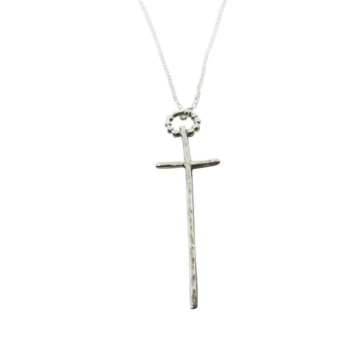 Signature Sterling Silver Skinny Cross Necklace - K Kay Designs