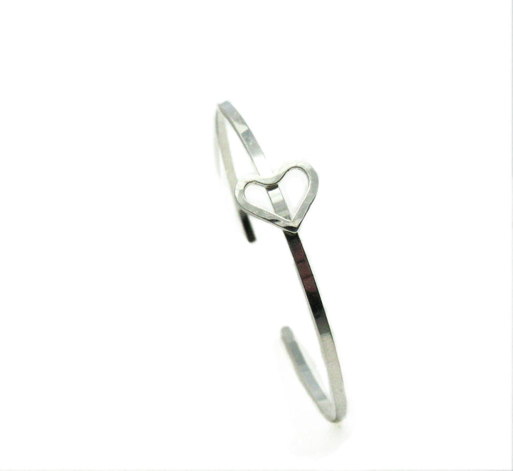 "Sterling Silver ""Imperfect Heart"" Cuff Bracelet - K Kay Designs"