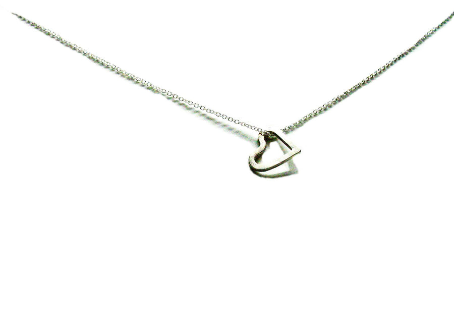 "Sterling Silver ""Imperfect Heart"" Necklace - K Kay Designs"