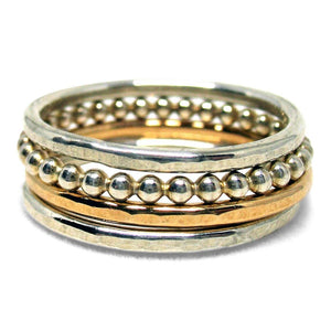 Sterling Silver Stackable Bead Ring - K Kay Designs