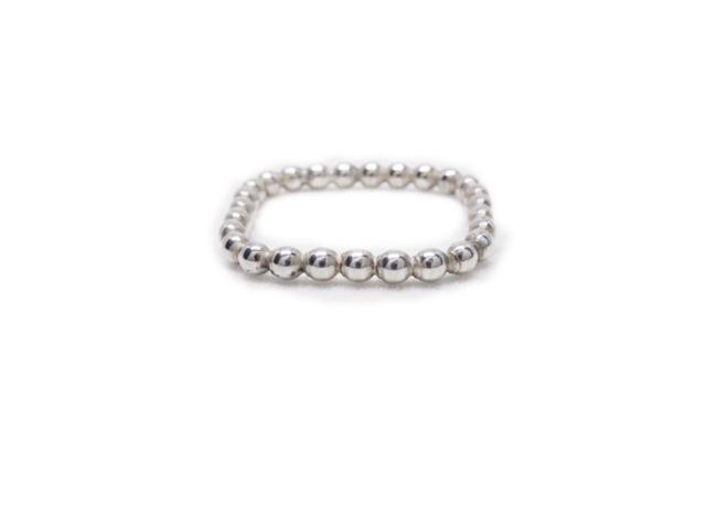 Sterling Silver Stackable Beaded Square Ring - K Kay Designs