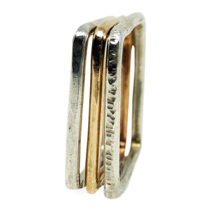 Sterling Silver Stackable Square Ring - K Kay Designs
