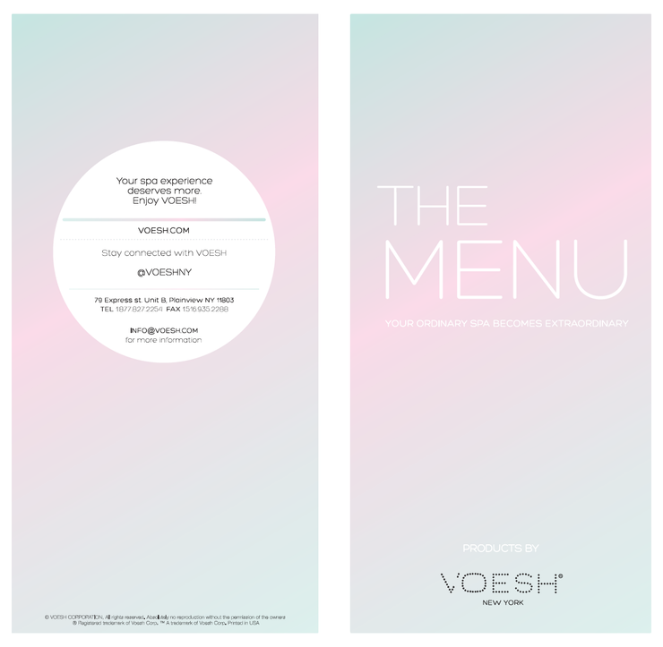 VOESH Menu