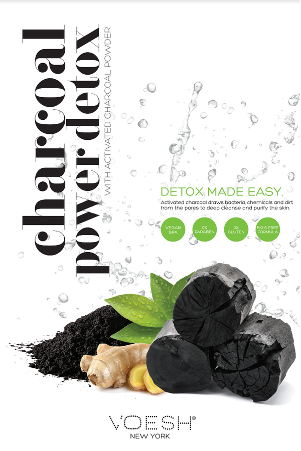 The Voesh Charcoal Power Detox Poster.