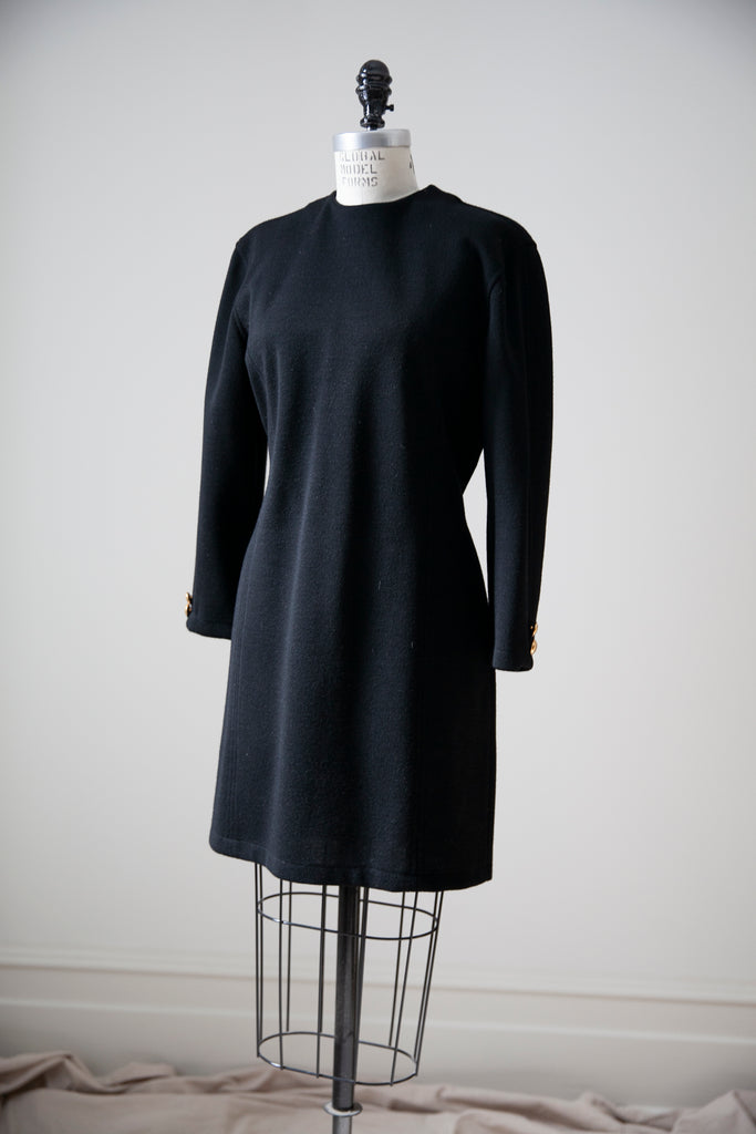 PORTS Black Wool Dress M
