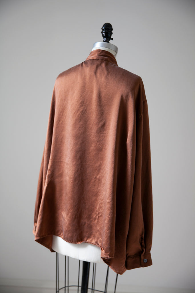 Copper Silk Blouse XL-XXL