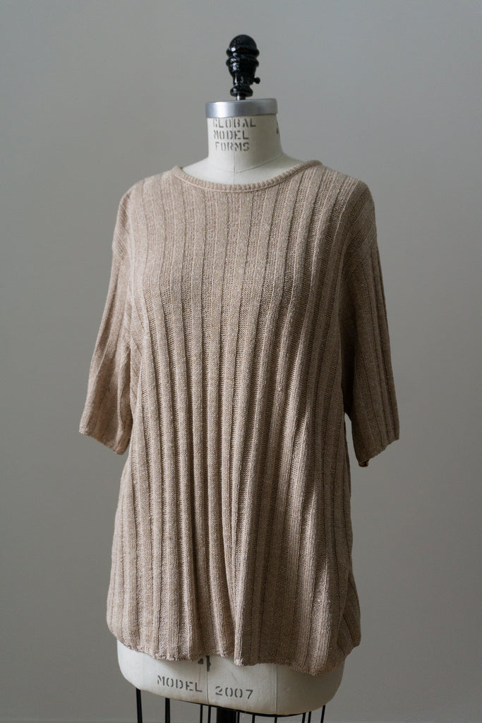 Black Wool Blend Knit Dress L