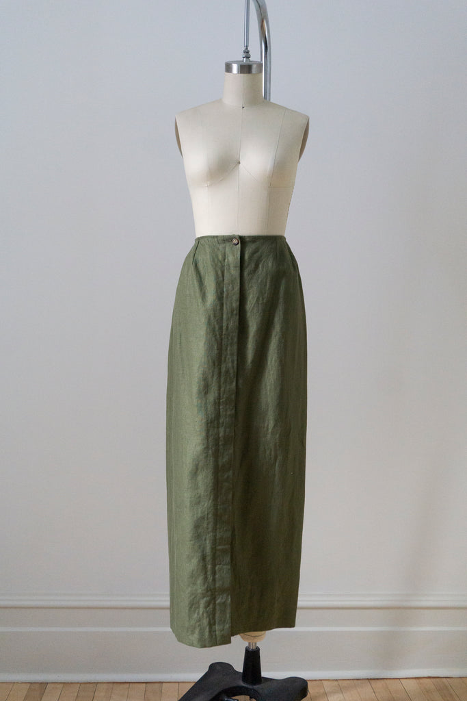 Olive Wool Jacket and Culottes Set XS-S