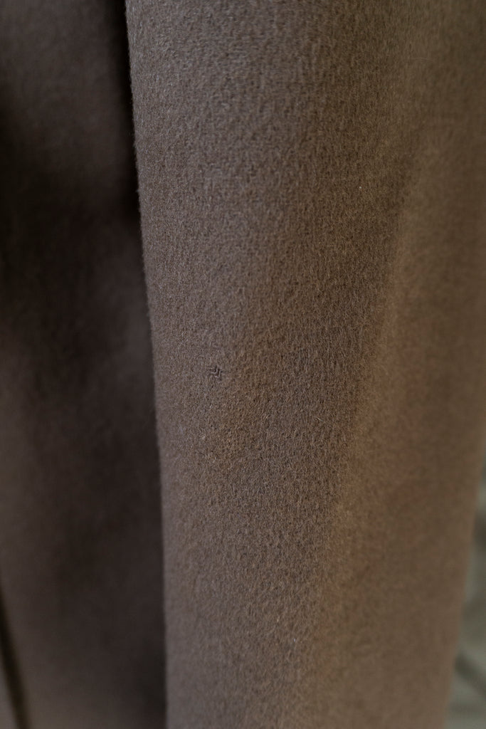 1970's Tan Belted Wool Coat S