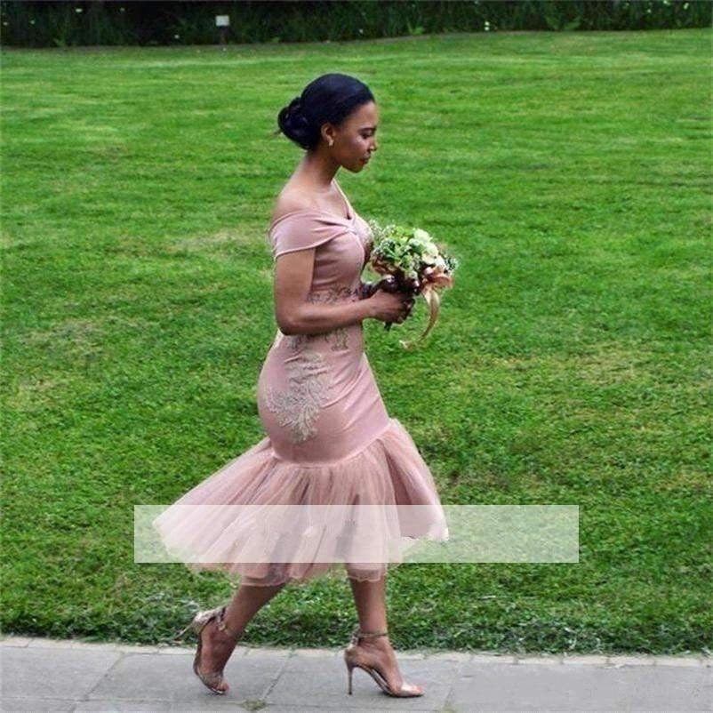2019 Cheap Bridesmaid Dresses Mermaid Off The Shoulder Appliques Long Wedding Party Dresses For Women