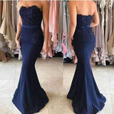 2019 Long Sexy Party Evening Gowns Royal Blue Mermaid Prom Dress