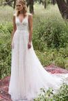 Romantic Tulle Lace Sleeveless With Appliques Wedding Dress W315