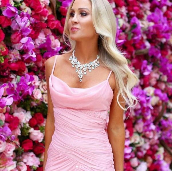 Simple Pink Chiffon Side Slit Mermaid Charming Prom Party Dresses ,PD00126