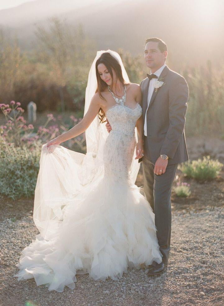 Sparkly Beaded Sweetheart Strapless Ruffles Mermaid Wedding Dresses, AB1164