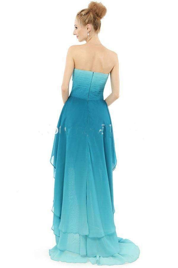 A Line Asymmetrical Sweetheart Sleeveless Mid Back Prom Dress,Formal Dress O11